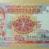 LL bancnota Swaziland 1 lilangeni 1974 UNC - bancnota europa