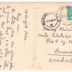 Carte postala ilustrata semnata de Spiru Chintila, adresata sotiei sale Simona Chintila - Harta Europei