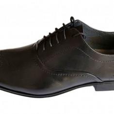 Pantofi barbati casual - eleganti din piele naturala cu siret - Model Gildo