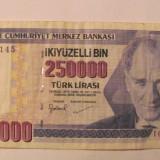 CY - 250000 lira lire 1998 (1970) Turcia / Ataturk - bancnota europa