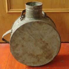 Veche canta / vas din tabla zincata pentru treburi gospodaresti - Banat !!! - Metal/Fonta