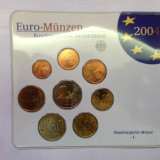"GERMANIA 2004 ""J"" set 8 monede euro - KMS nou, Europa, An: 2004, Cupru-Nichel"