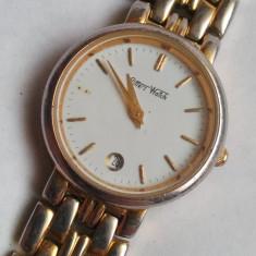 Ceas dama, Casual, Quartz, Placat cu aur, Placat cu aur, Data - Ceas de dama Pitters watch, placat cu aur inclusiv bratara