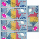 LOT 5 bancnote 2000 lei 1999 eclipsa, An: 1999