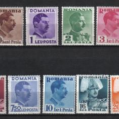 Timbre Romania, Nestampilat - RRR CAROL II UZUALE LP. 112 MNH LUX