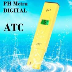 Tester PH metru digital cu ATC !!! + CUTIE - NOU ! !