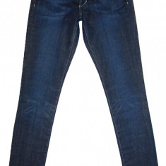 Blugi Conici H&M - (MARIME: 28) - Talie = 79 CM, Lungime = 106 CM - Blugi barbati H&m, Culoare: Bleumarin, Prespalat, Skinny, Normal