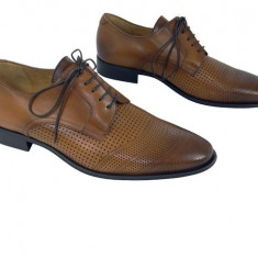 Pantofi barbati, Piele naturala - Pantofi eleganti piele naturala Denis-1288 cuoio 3