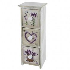 Dulap bijuterii 3 sertare Lavender Touch - Cutie Bijuterii