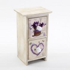 Dulap bijuterii 2 sertare Lavender Touch - Cutie Bijuterii