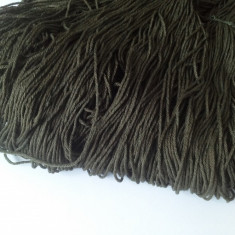 Fir de tricotat sau crosetat - bumbac mercerizat moale, matasos, fluid kaki 415g