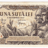Bancnota 100 lei 5 decembrie 1947 XF/a.UNC(1), An: 1947