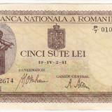 Bancnota 500 lei 2 IV 1941 filigran vertical a.UNC (5)
