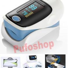 Oximetru / Pulsometru pentru deget - aparat digital cu display OLED, puls - Aparat monitorizare