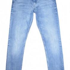 Blugi Conici H&M - (MARIME: EUR 170 / corespunde marimea 30) - Talie = 82 CM - Blugi barbati H&m, Culoare: Albastru, Lungi, Prespalat, Skinny, Normal