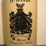 whisky -R A R E  Whiskey  willett, 4 years,  cl.75 gr. 55  U.S.A. sticla 135/204