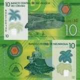 NICARAGUA 10 cordobas 2015 polymer UNC!!! - bancnota america