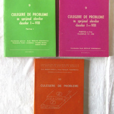 CULEGERE DE PROBLEME in sprijinul elevilor claselor I-VIII, 3 vol, N. Teodorescu - Culegere Matematica