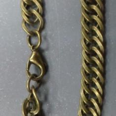 Bratara barbateasca/ unisex bronz de lant model impletit aplatizat