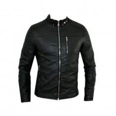 Geaca barbati Zara, Piele - Geaca Zara Man Casual David Beckham Imblanita SlimFit Cod Produs D350