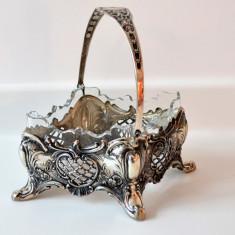 Bomboniera din argint si cristal, Vas
