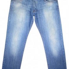 (BATAL) CALVIN KLEIN - (MARIME: 36 x 32) - Talie = 99 CM, Lungime = 109, 5 CM - Blugi barbati Calvin Klein, Culoare: Albastru, Prespalat, Drepti, Normal