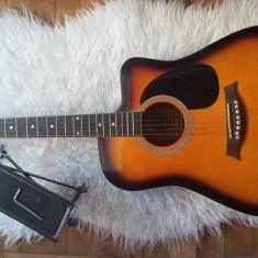 Chitara Acustica Jervis Roling's MG410 + Husa Hora + Scaun + Cheie de acordaj