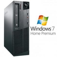 Sisteme desktop fara monitor - Calculatoare Refurbished Lenovo ThinkCentre M91p sff i5 2400 Win 7 Home