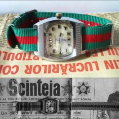 Ceas de mana - Ceas rusesc de colectie, Raketa dial TV, made in URSS