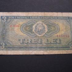 Bancnote Romanesti - 3 lei 1966 F.0006