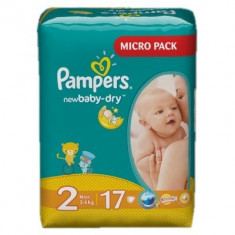 PAMPERS Scutece New Baby 2 Mini Simple Pack 17 buc - Scutece unica folosinta copii
