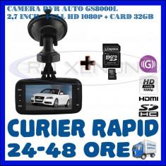 Camera video auto ZDM, 32GB, Wide, Single, Senzor imagine MP CMOS: 12, Full HD - CARD 32GB + CAMERA VIDEO DVR AUTO MARTOR ACCIDENT GS8000L, FULL HD 1080p, SENZ G
