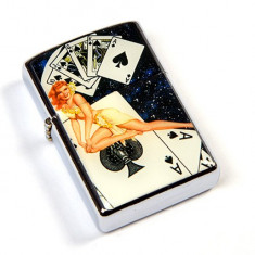 Bricheta Zippo - Bricheta tip Zippo - poker - Chinta Royala