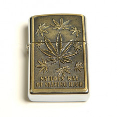 Bricheta Zippo - Bricheta model - Zippo - Natures Way Of Staying High - cannabis