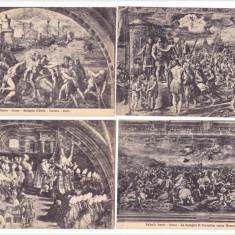 14 CP vechi necirculate - ROMA - VATICAN - lucrari Raffaello + 4 CP Michelangelo, Altul, Europa