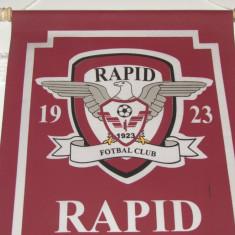 Fanion fotbal de protocol - RAPID BUCURESTI (dimensiuni 37.5x26.5 cm)