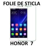 FOLIE de STICLA securizata Huawei Honor 7, 0.3mm, 2.5D, 9H tempered protectie - Folie de protectie Huawei, Anti zgariere
