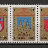 San Marino.1974 Turnee de arbaleta:Steme-streif  SS.976