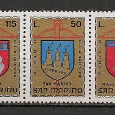 San Marino.1974 Turnee de arbaleta:Steme-streif SS.976 - Timbre straine, Nestampilat