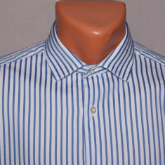 Camasa barbati FRENCH CONNECTION FCUK albastra in dungi marimea 38 / S, Culoare: Albastru, Maneca lunga