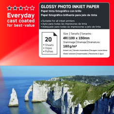 Hartie foto imprimanta - HARTIE FOTO AGFA GLOSSY INKJET 10X15 180G/100COLI