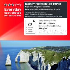 HARTIE FOTO AGFA GLOSSY INKJET 10X15 180G/100COLI - Hartie foto imprimanta