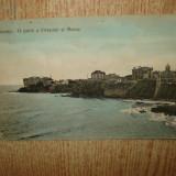CARTE POSTALA ROMANIA CONSTANTA -O PARTE A ORASULUI SI MAREA CIRCULATA ANUL 1909 - Carte Postala Dobrogea 1904-1918, Circulata, Printata, Constanta