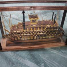 MACHETA NAVA DIN LEMN-STEAMBOAT MISSISSIPPI-1870-SCARA 1:200 - Macheta Navala