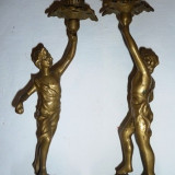Superbe sfesnice din bronz masiv (2 piese)