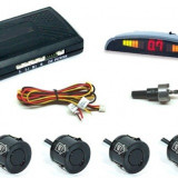 Senzori parcare auto 4 senzori 0, 2 m si 2 m, cabluri, freza pentru bara - Senzor de Parcare
