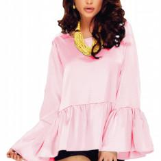 Bluza dama - BL686-5 Bluza cu maneci lungi, largi si volanase