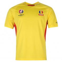 LICHIDARE DE STOC! Tricou barbati Nike Romania EURO 2016 original - Marimea L, Marime: L, Culoare: Galben, Maneca scurta