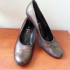 Pantofi piele Gabor - Pantof dama Gabor, Marime: 38, Culoare: Gri