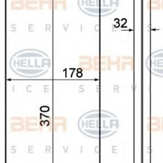 Schimbator caldura, incalzire habitaclu MAN F 2000 26.373 DFK, 26.373 DFLK - HELLA 8FH 351 000-381 - Sistem Incalzire Auto